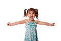 Ecstatic happy little toddler girl Royalty Free Stock Photo