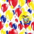 Ecuador Independence Day Seamless Pattern.