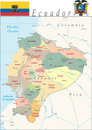Ecuador Map. Royalty Free Stock Photo