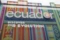 Ecuador pavilion Royalty Free Stock Photo