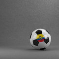 Ecuador soccer ball ecuadorian in front of plaster wall Stock Photo