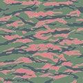 Ecuador Tiger stripe Camouflage seamless patterns