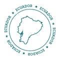 Ecuador vector map.