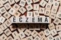 stock image of  Eczema word concept