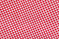 Ed and white checkered tablecloth background Royalty Free Stock Image