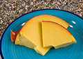 Edam cheese on plate Stock Image