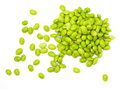 Edamame nibbles boiled green soy beans japanese food Royalty Free Stock Images