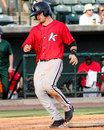 Eddy Alvarez, Kannapolis Intimidators. Royalty Free Stock Photo