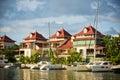 Eden island seychelles a beautiful view of marina at mahe Stock Photography