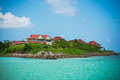 Eden island seychelles view of mahe at sunny weather Royalty Free Stock Photos