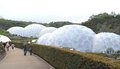 The eden project biodomes cornwall tom wurl this was taken on a trip to england this is built on a kaolinite pit it s domes Stock Photos