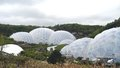 The eden project biodomes cornwall tom wurl this was taken on a trip to england this is built on a kaolinite pit it s domes Stock Photography