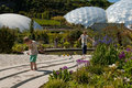 Eden Project Biomes with children