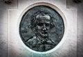 Edgar Allan Poe Likness on Tombstone Royalty Free Stock Photo