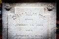 Edgar Allan Poe Tombstone Royalty Free Stock Photo