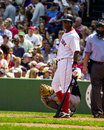 Edgar renteria boston red sox checking signals during an at bat Royalty Free Stock Photo