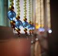 Edge of Elegance Beads Blind Royalty Free Stock Photo