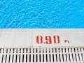 Edge of the swimming pool overflow with blue seawater Royalty Free Stock Photos