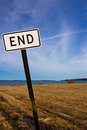Edge of the world end road sign Royalty Free Stock Images
