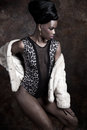 Edgy fashion model Royalty Free Stock Photo