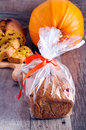 Edible gift pumpkin fruit bread Royalty Free Stock Photos