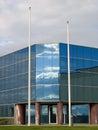 Edificio reflejado Imágenes de archivo libres de regalías