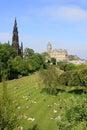 Edinburgh arbeta i trädgården princes scotland Royaltyfri Bild
