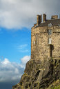 Edinburgh castle detail of an historic fortress perched on rock scotland Royalty Free Stock Photography