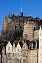 Edinburgh Castle and Grassmarket Royalty Free Stock Photo