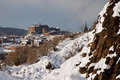 Edinburgh Castle from Holyrood Park Stock Photography