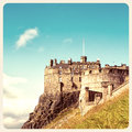 Edinburgh Castle old photo Stock Photo