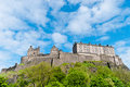 Edinburgh castle royal in scotland uk Stock Photos