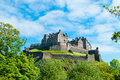 Edinburgh castle royal in scotland uk Royalty Free Stock Photo