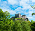 Edinburgh castle royal in scotland uk Stock Image