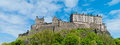 Edinburgh castle royal in scotland uk Royalty Free Stock Images