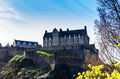Edinburgh castle seen from princes street Royalty Free Stock Photo