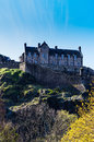 Edinburgh castle seen from princes street Royalty Free Stock Images