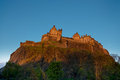 Edinburgh castle at sunset scotland uk Stock Photos