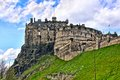Edinburgh castle view of the historic scotland Royalty Free Stock Images