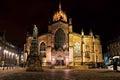 Edinburgh cathedral night view of st giles scotland Stock Image