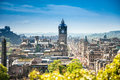 Edinburgh city scotland view from the calton hill to the Stock Image