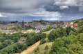 Edinburgh cityscape from castle in scotland uk Stock Photography