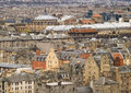 Edinburgh cityscape stylized photograph of scotland telephoto compression Royalty Free Stock Images