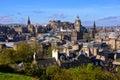 Edinburgh cityscape view over the historic center of scotland Stock Image