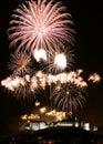 Edinburgh Fireworks Royalty Free Stock Photography