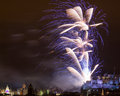 Edinburgh fireworks scotland uk spectacular hogmanay new years eve over castle europe Royalty Free Stock Image