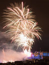 Edinburgh fireworks scotland uk spectacular hogmanay new years eve over castle europe Stock Photos