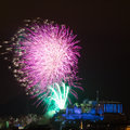 Edinburgh fireworks scotland uk spectacular hogmanay new years eve over castle europe Royalty Free Stock Photography