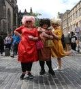 Edinburgh fringe festival august members of the sundaes publicize their show diva las vegas during on august in Stock Image