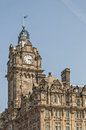 Edinburgh grand hotel the that dominated the skyline in scotland Royalty Free Stock Photo